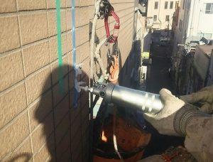 外壁タイルの浮き補修