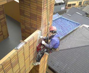 外壁タイルの新規張替え