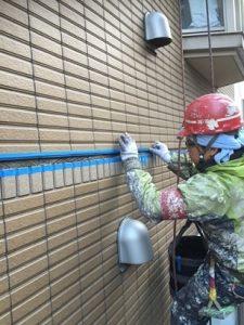 外壁タイル打継目地の 打ち替え工事