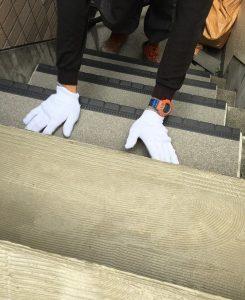 階段床長尺シート貼り